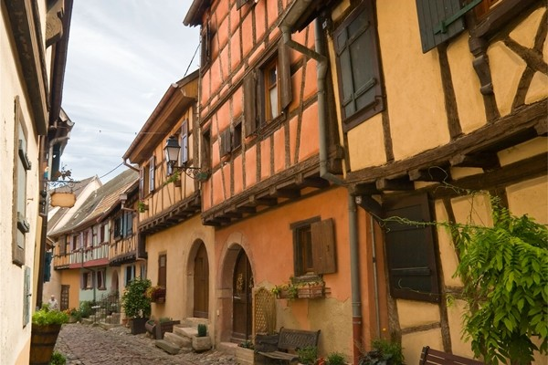 Alsace, Timbered houses in Eguisheim village