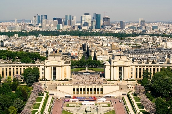 Palais de Chaillot from the Eiffel Tower Paris