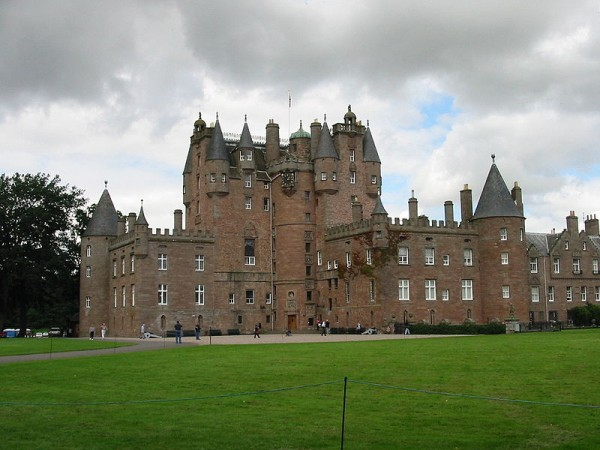 Glamis Castle in Angus, Scotland